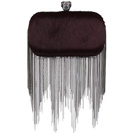 House of Harlow 1960 JUDE Fringed Clutch