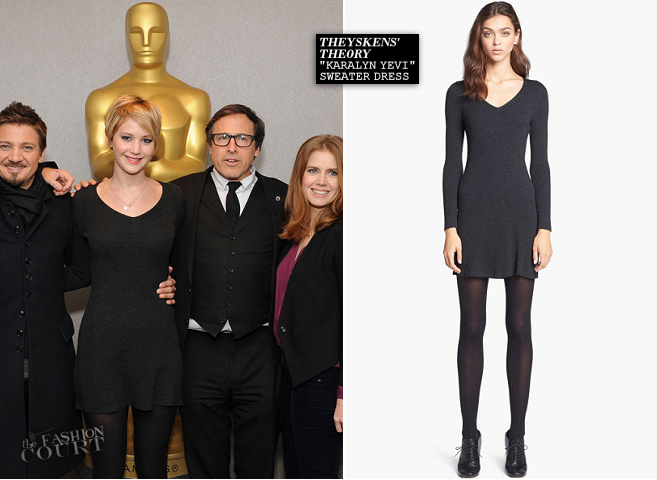 Jennifer Lawrence in Theyskens' Theory | 'American Hustle' AMPAS Academy Members Screening