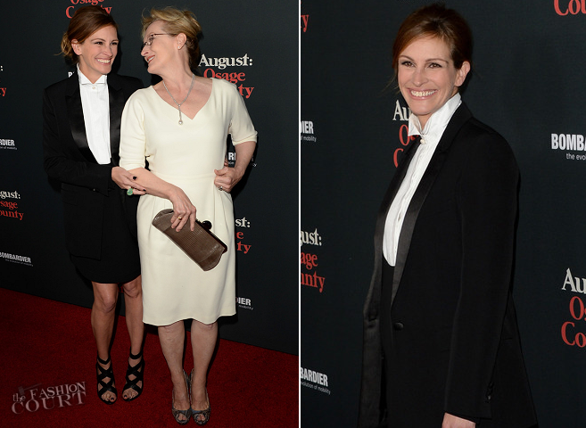 Julia Roberts in Givenchy | 'August: Osage County' LA Premiere