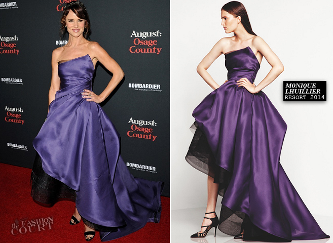 Juliette Lewis in Monique Lhuillier | 'August: Osage County' LA Premiere
