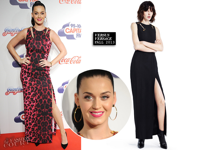 Katy Perry in Versus Versace | Capital FM Jingle Bell Ball 2013