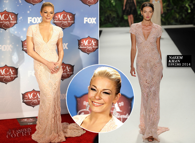 LeAnn Rimes in Naeem Khan | 2013 American Country Awards