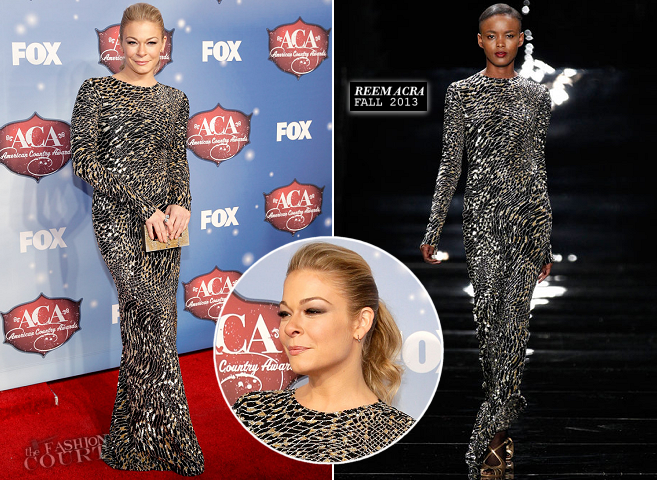 LeAnn Rimes in Reem Acra | 2013 American Country Awards