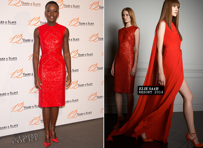 Lupita Nyong'o in Elie Saab | '12 Years a Slave' Paris Premiere