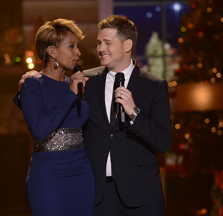 Mary J. Blige in Pamella Roland | 'Michael Buble's 3rd Annual Christmas Special'