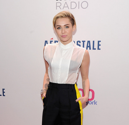 Miley Cyrus in Maison Martin Margiela | Z100's Jingle Ball 2013