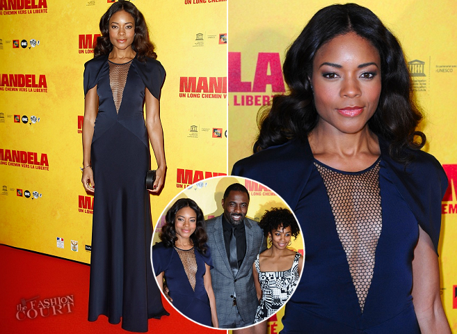 Naomie Harris in Vionnet | 'Mandela: Long Walk to Freedom' Paris Premiere