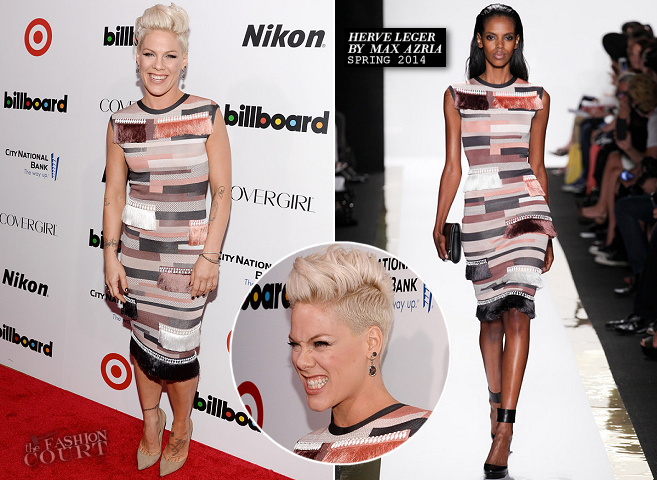 Pink in Hervé Léger | Billboard's Women in Music Event 2013