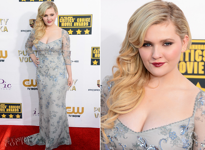 Abigail Breslin in Badgley Mischka | 2014 Critics' Choice Movie Awards