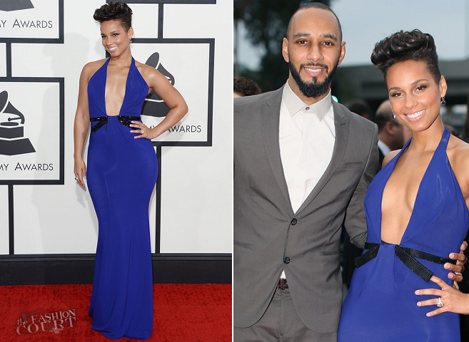 Alicia Keys in Armani Privé | 2014 GRAMMY Awards