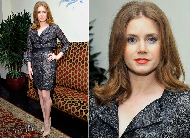 Amy Adams in Antonio Berardi | W Magazine's Golden Globes 2014 Celebration