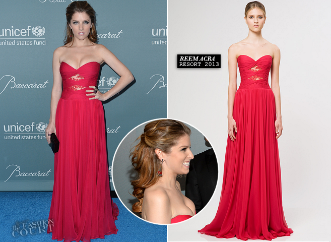 Anna Kendrick in Reem Acra | 2014 UNICEF Ball