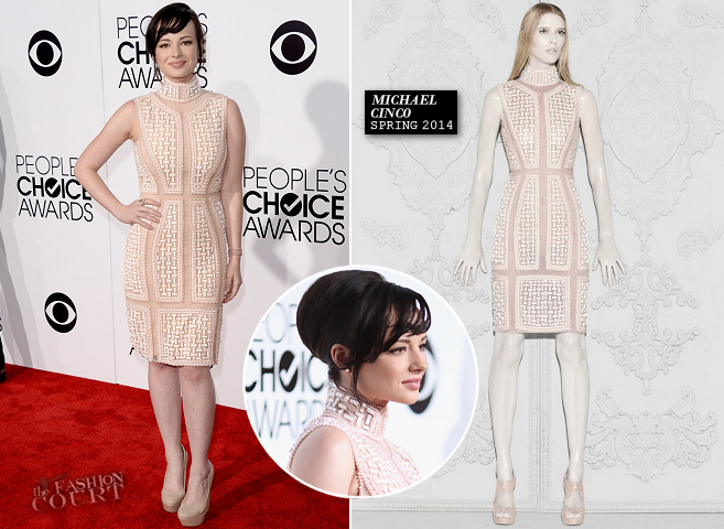 Ashley Rickards in Michael Cinco | 2014 People's Choice Awards