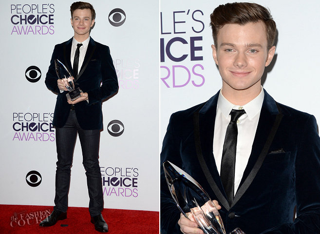 Chris Colfer in Sand Copenhagen | 2014 People's Choice Awards