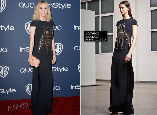 Diane Kruger in Antonio Berardi | 2014 Warner Bros. / InStyle Golden Globe Awards After Party