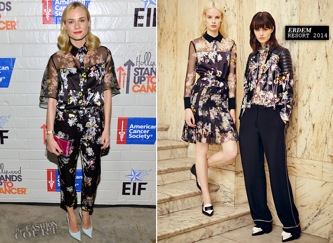 Diane Kruger in Erdem | Hollywood Stands Up to Cancer