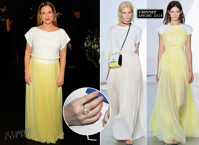 Drew Barrymore in Vionnet | 2014 People's Choice Awards