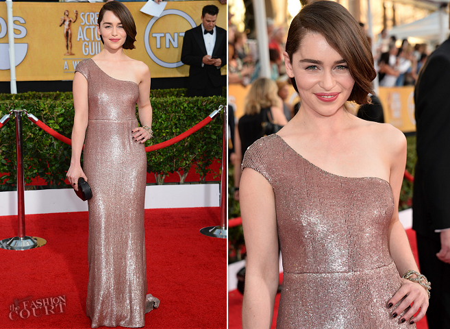 Emilia Clarke in Calvin Klein Collection | 2014 SAG Awards