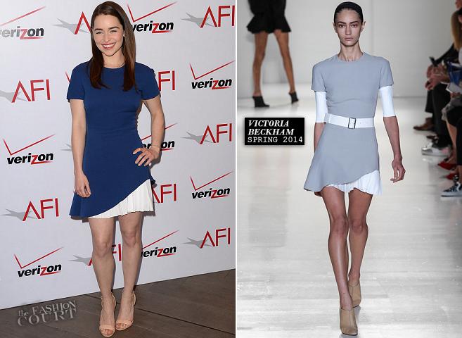 Emilia Clarke in Victoria Beckham | AFI Awards 2014