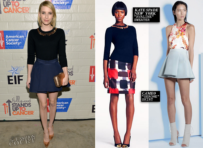 Emma Roberts in kate spade new york & Cameo | Hollywood Stands Up to Cancer