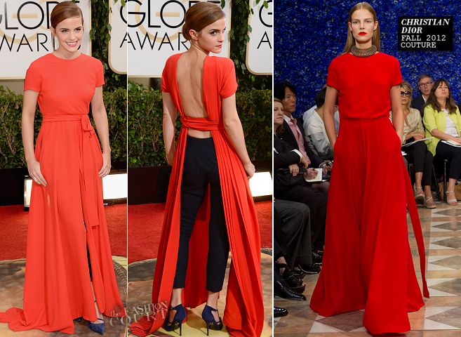 Emma Watson in Christian Dior Couture | 2014 Golden Globes