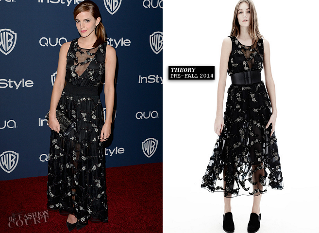 Emma Watson in Theory | 2014 Warner Bros. / InStyle Golden Globe Awards After Party