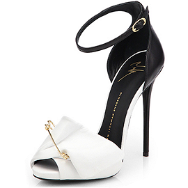 Giuseppe Zanotti Resort 2014 Safety Pin-Embellished Ankle Strap Sandals