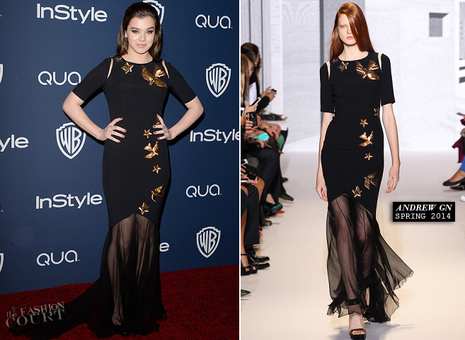 Hailee Steinfeld in Andrew Gn | 2014 Warner Bros. / InStyle Golden Globe Awards After Party