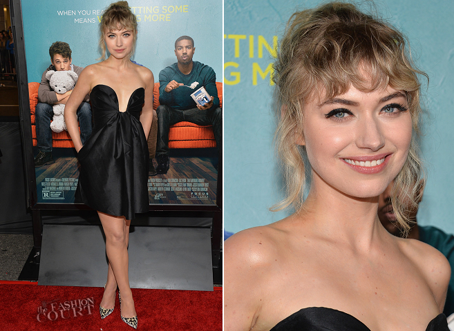 Imogen Poots in Stella McCartney | 'That Awkward Moment' LA Premiere