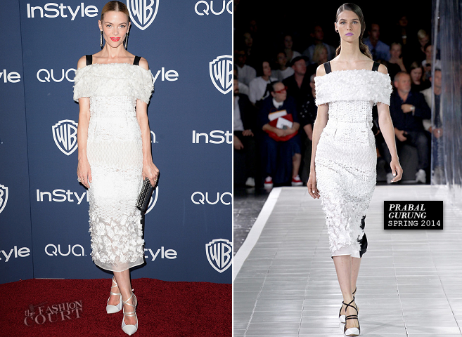 Jaime King in Prabal Gurung | 2014 Warner Bros. / InStyle Golden Globe Awards After Party