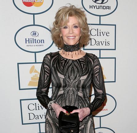 Jane Fonda in David Meister | 2014 Clive Davis Pre-Grammy Gala