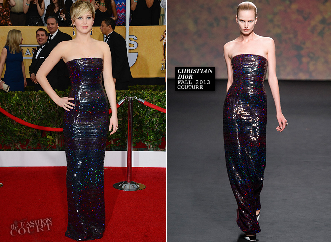 Jennifer Lawrence in Christian Dior Couture | 2014 SAG Awards