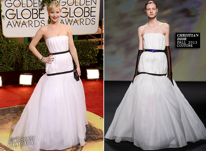Jennifer Lawrence in Christian Dior Couture | 2014 Golden Globes