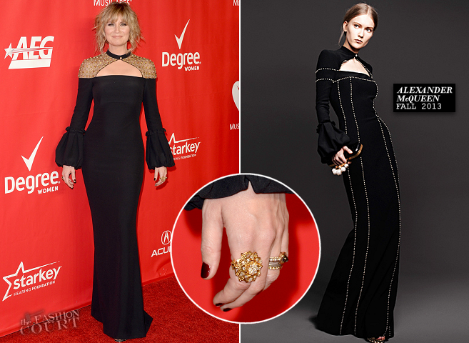 Jennifer Nettles in Alexander McQueen | 2014 MusiCares Person Of The Year Honoring Carole King