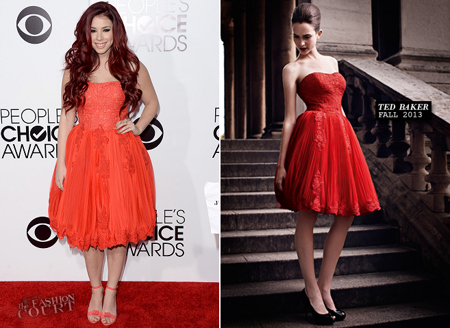 Jillian Rose Reed in Ted Baker | 2014 People's Choice Awards