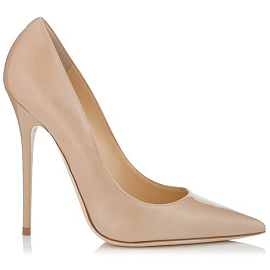 Jimmy Choo ANOUK Leather Pumps in Nude