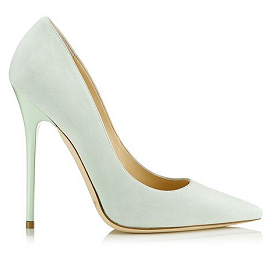 Jimmy Choo Cruise 2014 'Anouk' Sorbet Suede Pointy Toe Pumps