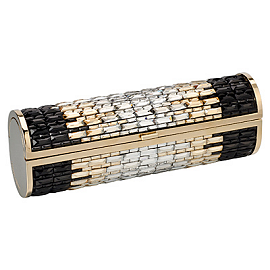 Jimmy Choo Spring 2013 Heavy-Embellished Gold, Silver and Black COSMA Clutch