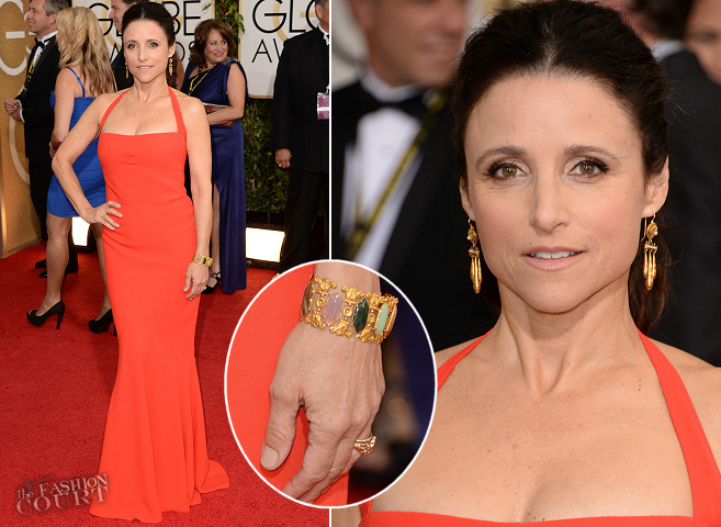 Julia Louis-Dreyfus in Narciso Rodriguez | 2014 Golden Globes