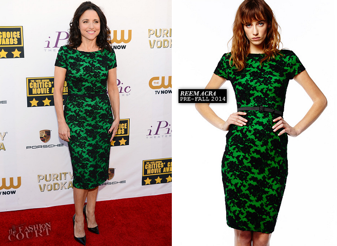 Julia Louis-Dreyfus in Reem Acra | 2014 Critics' Choice Movie Awards