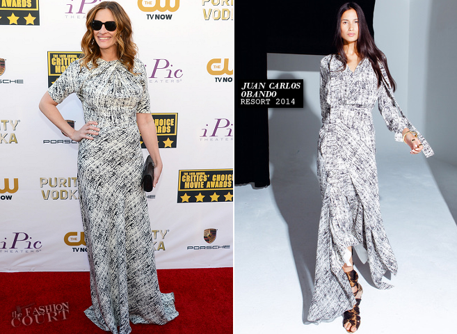 Julia Roberts in Juan Carlos Obando | 2014 Critics' Choice Movie Awards
