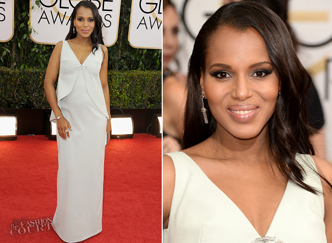 Kerry Washington in Balenciaga | 2014 Golden Globes