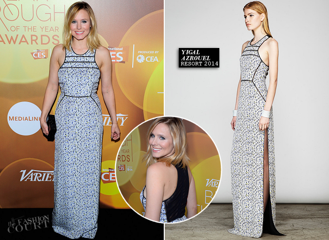 Kristen Bell in Yigal Azrouël | 2014 Variety Breakthrough Of The Year Awards