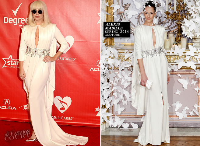 Lady Gaga in Alexis Mabille Couture | 2014 MusiCares Person Of The Year Honoring Carole King