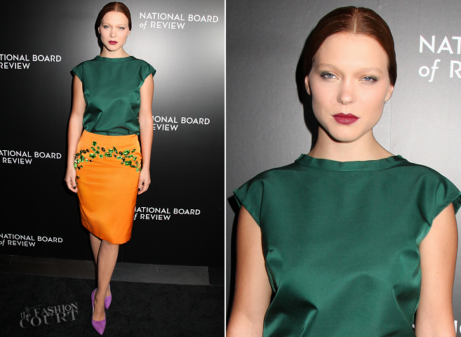 Léa Seydoux in Prada | 2014 National Board of Review Awards Gala