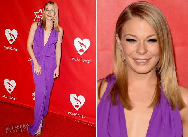 LeAnn Rimes in Lanvin | 2014 MusiCares Person Of The Year Honoring Carole King