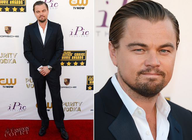 Leonardo DiCaprio in Giorgio Armani | 2014 Critics' Choice Movie Awards