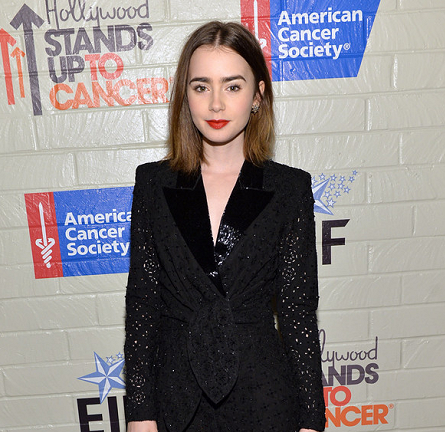 Lily Collins in Emilio Pucci | Hollywood Stands Up to Cancer