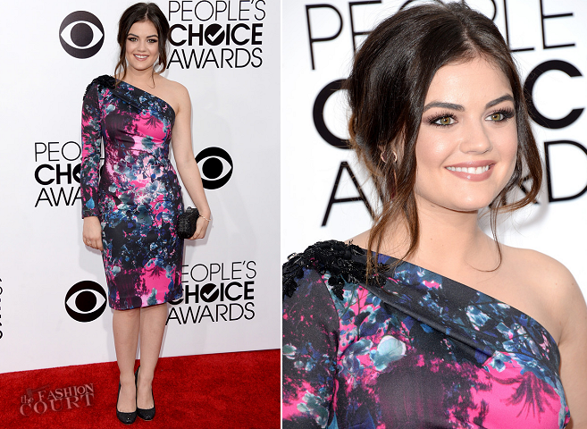 Lucy Hale in Gabriela Cadena | 2014 People's Choice Awards