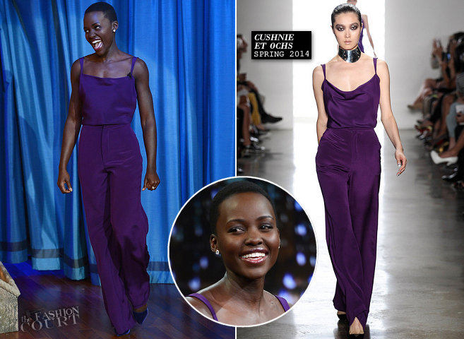 Lupita Nyong'o in Cushnie et Ochs | 'Late Night with Jimmy Fallon'